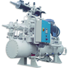 Industrial Refrigeration Packages with open bare screw compressor